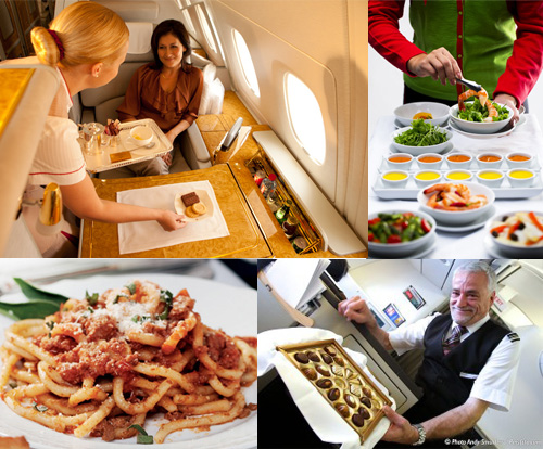 Alta cucina a 35mila piedi: ecco le compagnie aeree dove si mangia meglio