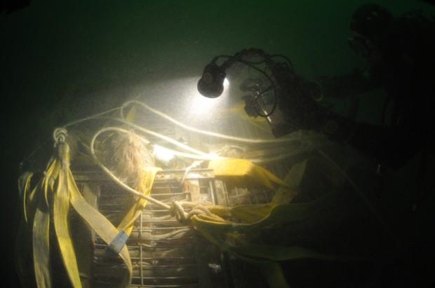 Si chiama Nautilus e non è un caso: è lo spumante invecchiato (due anni) sul fondo del lago d'Iseo