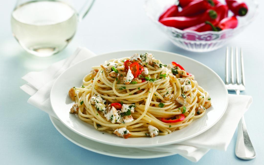 Spaghetti piccantini al torrone